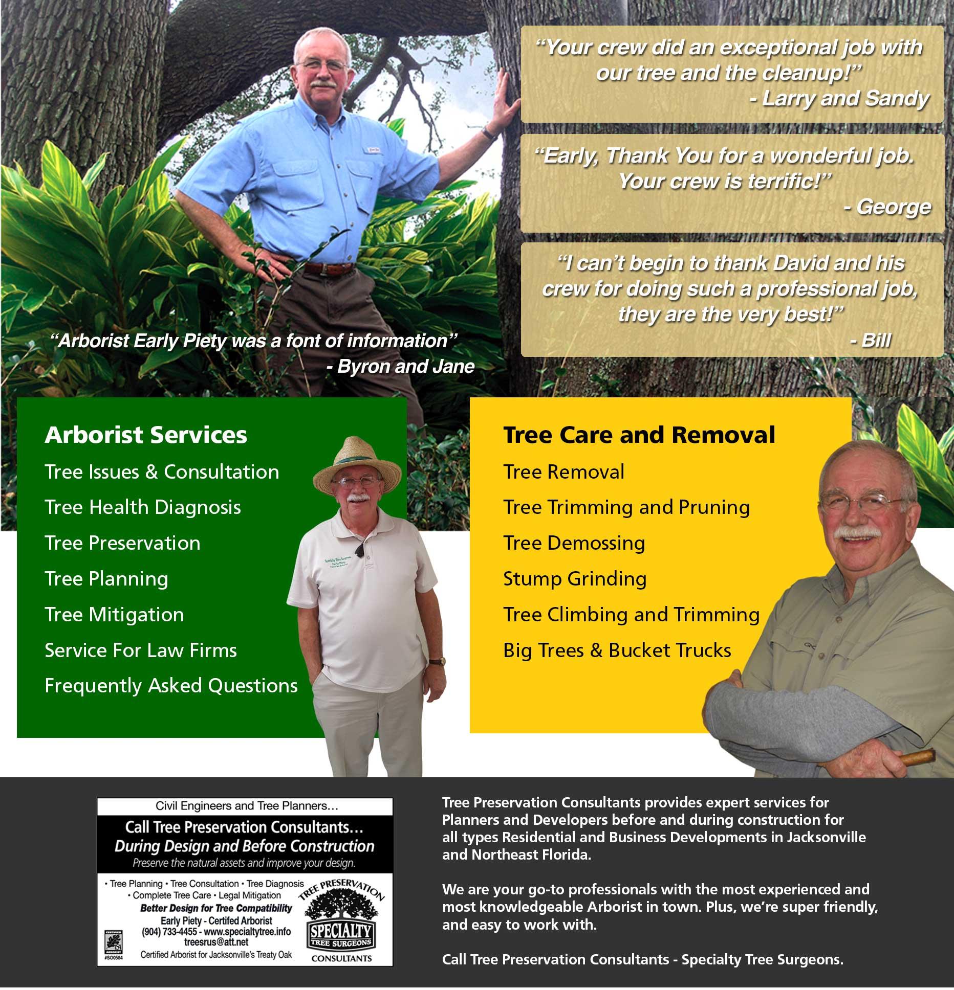 Certified Arborist Jacksonville Tree Service Tree Trimming Tree Removal Tree Mitigation Tree Planning